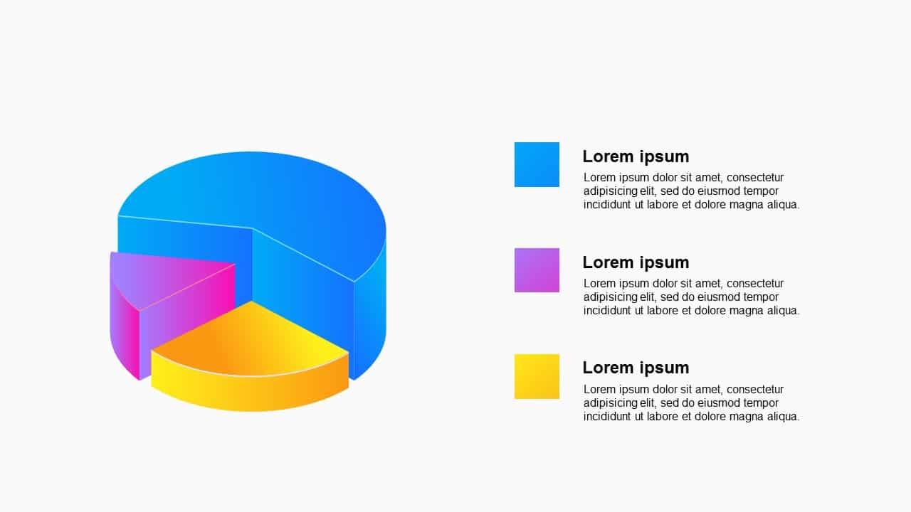 3D Circluar Graph Process Diagram&Charts