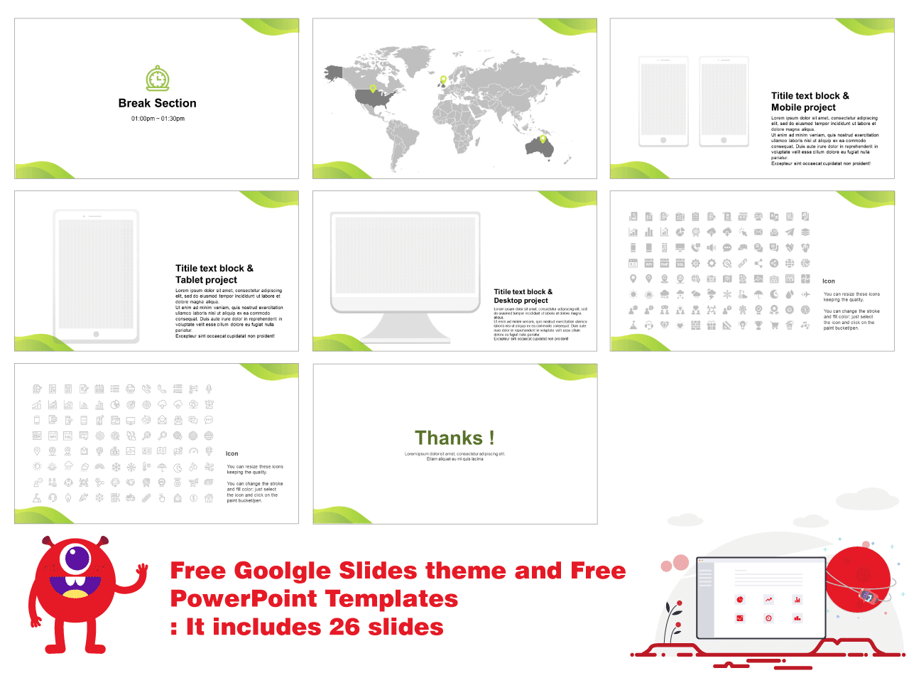 Business services Free presentation templates