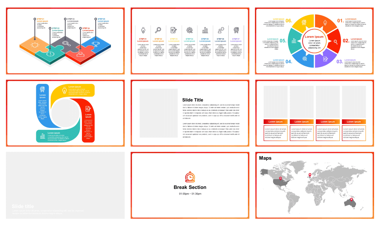 RED MODERN CONCEPT Free Google slide and free Powerpoint Templates - image2