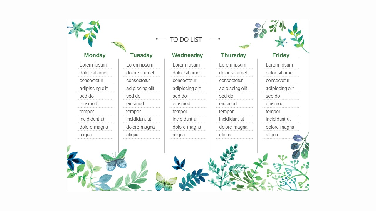 Natural Concept TO DO LIST Calendar & Schedule