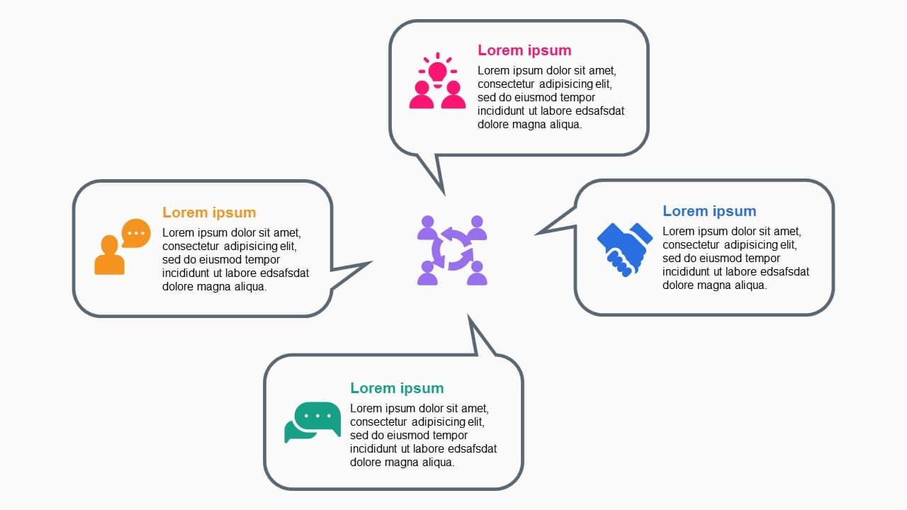 Communication 4 Steps Diagram