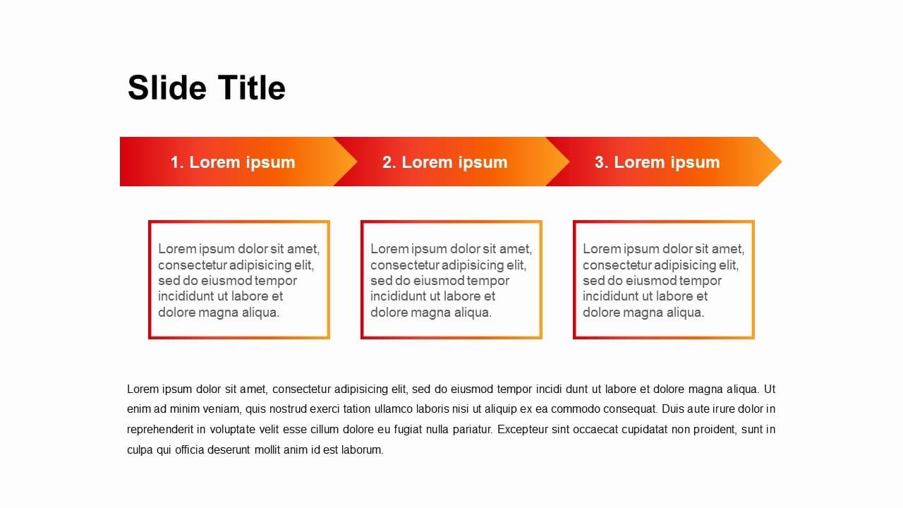 3 Steps RED TONE gradation Timeline