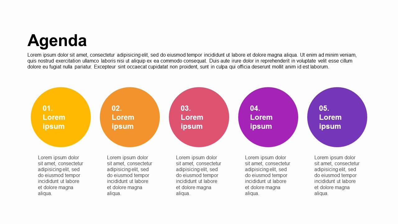 Agenda Circular Process Text Box