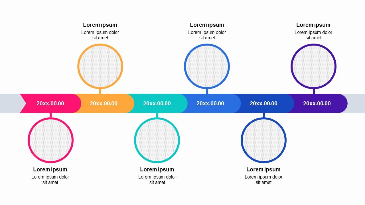 Image Colorful 6 Steps Roadmap Timeline